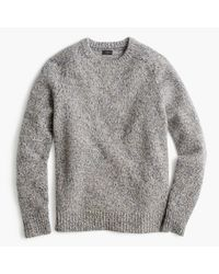 J.Crew | Gray Brushed Lambswool Sweater for Men | Lyst