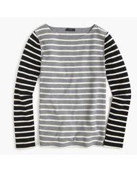 J.Crew | Gray Waffle T-shirt In Stripe Combo | Lyst