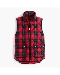 J.Crew | Red Petite Excursion Vest In Tartan | Lyst