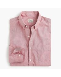 J.Crew - Red Tall Stretch Secret Wash Shirt In End-on-end Cotton for Men - Lyst