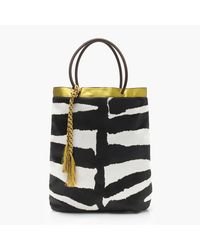 J.Crew | Black Collection Tote In Calf Hair And Leather | Lyst
