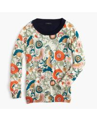 J.Crew | Multicolor Tippi Sweater In Ornate Floral | Lyst