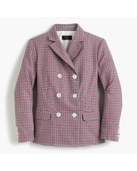 J.Crew | Double-breasted Blazer In Red Tattersall for Men | Lyst