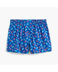 J.Crew | Blue Popsicle Print Boxers for Men | Lyst
