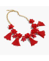 J.Crew | Red Honeymoon Tassel Necklace | Lyst