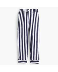 J.Crew | Blue Thomas Mason Cropped Striped Pant | Lyst