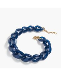 J.Crew | Blue Oval Link Necklace | Lyst