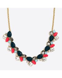 J.Crew - Multicolor Colorful Stone Statement Necklace - Lyst