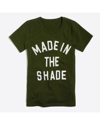 """J.Crew - Green """"made In The Shade """"collector T-shirt - Lyst"""