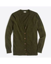 J.Crew - Green V-neck Cardigan Sweater - Lyst