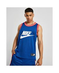 Nike - Blue Mesh Vest Tank Top for Men - Lyst