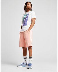 Adidas Originals - Pink 3-stripes Fleece Shorts for Men - Lyst