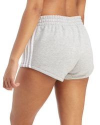 Adidas Originals - Gray 3-stripes Terry Shorts - Lyst
