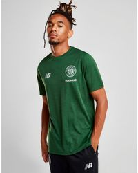 fe96786a970 New Balance Celtic Fc 2018/19 Leisure T-shirt in Green for Men - Lyst
