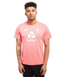 New Balance - Pink Ecb Training Cotton T-shirt for Men - Lyst