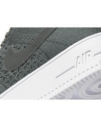 Nike Gray Air Force 1 Flyknit for men