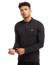 4cbb3471e11 Lyst - Lyle   Scott Long Sleeve Polo Shirt in Black for Men