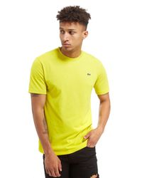 Lacoste   Yellow Croc T-shirt for Men   Lyst