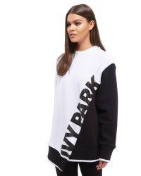 Ivy Park | Black Asymetric Sweatshirt | Lyst