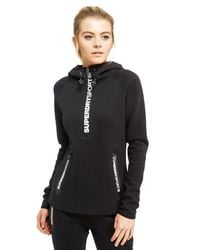 Superdry | Black Gym Tech Half Zip Hoody | Lyst