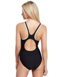 Speedo - Black Monogram Muscleback Swimsuit - Lyst