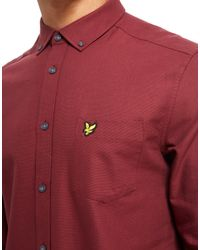 Lyle & Scott - Red Oxford Long Sleeve Shirt for Men - Lyst