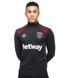 Umbro - Black West Ham United Half Zip Training Top for Men - Lyst