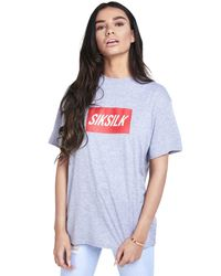 Siksilk - Gray Short Sleeve Box Logo T-shirt - Lyst