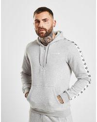 4e0486f7aaaa adidas Originals Tape Fleece 1 2 Zip Hoodie in Gray for Men - Lyst
