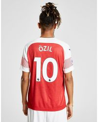 32b20506f PUMA Arsenal Fc 2018 19 Ozil  10 Home Shirt in Red for Men - Lyst