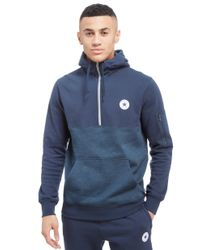 f3109f4d5745 Lyst - Converse Chuck Half Zip Hoody in Blue for Men