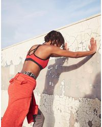Nike - Red Training Favourites Strappy Bra - Lyst