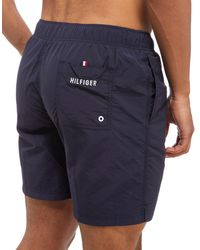 Tommy Hilfiger - Blue Core Basic Swim Shorts for Men - Lyst