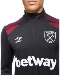 Umbro | Black West Ham United Half Zip Training Top for Men | Lyst