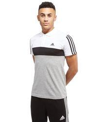 Adidas | White Panel Polo Shirt for Men | Lyst