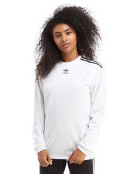 Adidas Originals - White Trefoil Football Long Sleeve T-shirt - Lyst