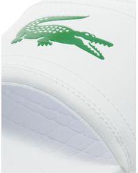 Lacoste - White Frasier Slides for Men - Lyst