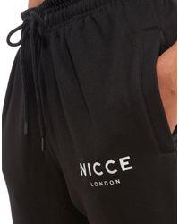 Nicce London - Black Original Logo Fleece Pants - Lyst