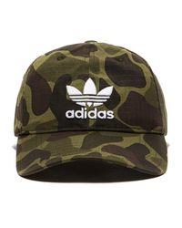 6495ee208d2 adidas Originals Trefoil Classic Cap in Green for Men - Lyst