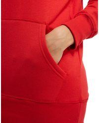 Ellesse | Red Logo Boyfriend Hoodie | Lyst