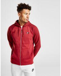 41844423b Nike Optic Full Zip Hoodie in Red for Men - Lyst
