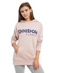 Reebok - Pink Classics Boyfriend Hoodie - Lyst
