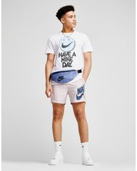 Nike - White Smile Swoosh Short Sleeve T-shirt for Men - Lyst
