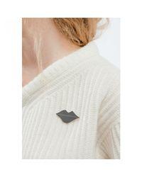 Jenny Bird - White La Bouche Pin - Lyst
