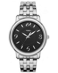 Timex | Multicolor Womens Elegant Classics Black Dial Bracelet Watch T2n623 | Lyst