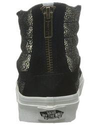 8850441c73 Lyst - Vans Unisex Sk8-hi Slim Zip Gold Dots Skate Shoes-gold black ...
