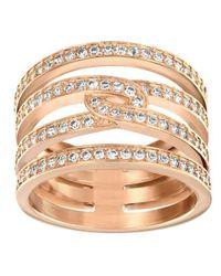 Swarovski - Metallic Creativity Ring Size 55 - Lyst