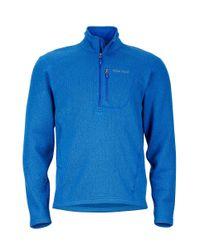 Marmot - Blue Mens Drop Line 1/2 Zip for Men - Lyst