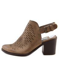 Steve Madden - Brown Patrize Women Pointed Toe Leather Tan Bootie - Lyst