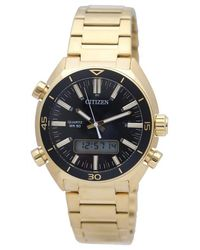 Citizen - Metallic Digital Analog Gold Tone Watch Jm5462-56e for Men - Lyst
